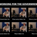 Working for the government…