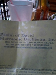 Psalm of David Harmonic Orchestra Solicitation Letter