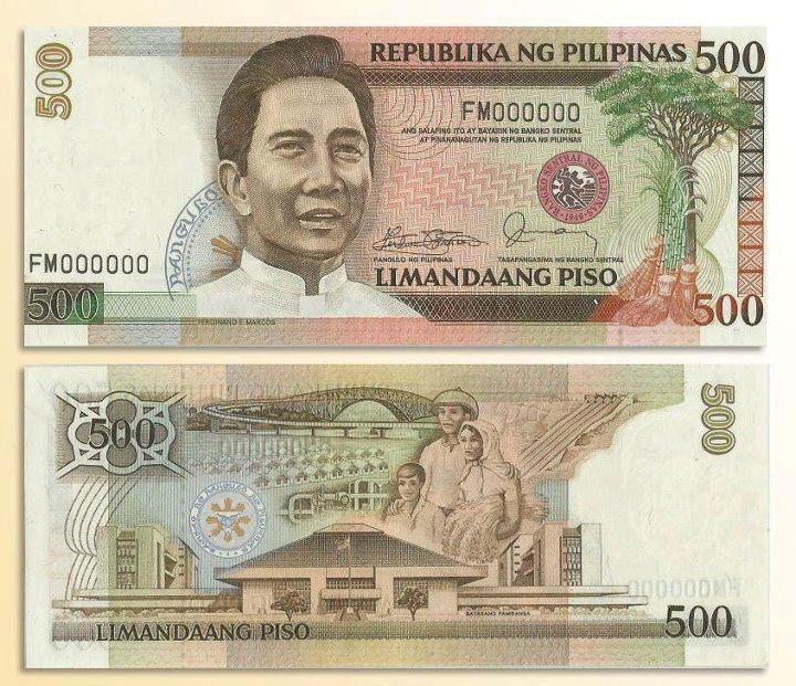 Original 500 peso design