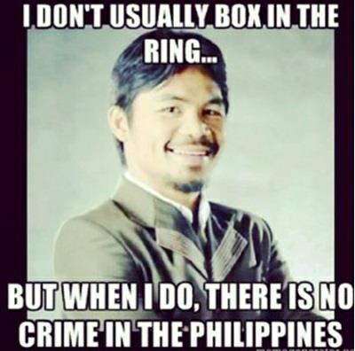 When Pacquiao Fights there is zero crime rate