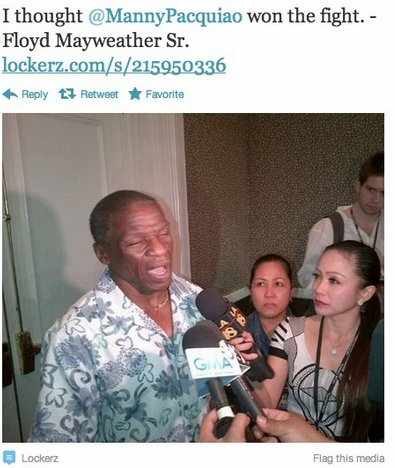 Floyd Mayweather Sr on Pacquiao vs Bradley