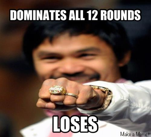 Manny Loses Despite Winning The Fight