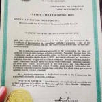 SWA Certificate of Incorporation