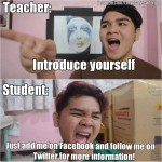 How students introduce themselves today…